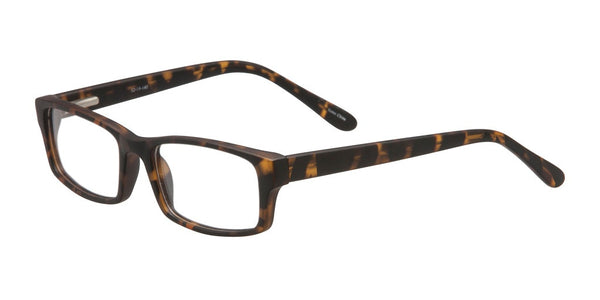 PRIVATE LABEL Matte Tortoise Rectangle Plastic Eyeglass FramesHiraku