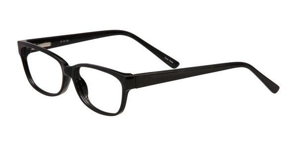 PRIVATE LABEL Black Plastic Eyeglass Frame Isra
