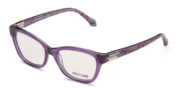 Roberto Cavalli RC0810 Clear Purple Snake RX Glasses