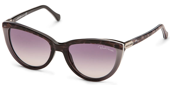 Roberto Cavalli RC 787 Black Leopard Cat-Eye Sunglasses