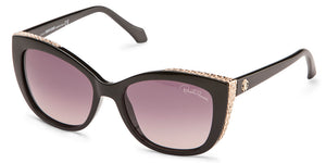 Roberto Cavalli 888S Black Cat Eye Women Sunglasses