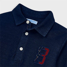 Load image into Gallery viewer, Long Sleeve Denim Polo Shirt