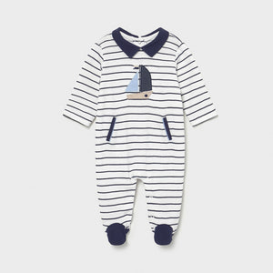 Mayoral Striped Onesie
