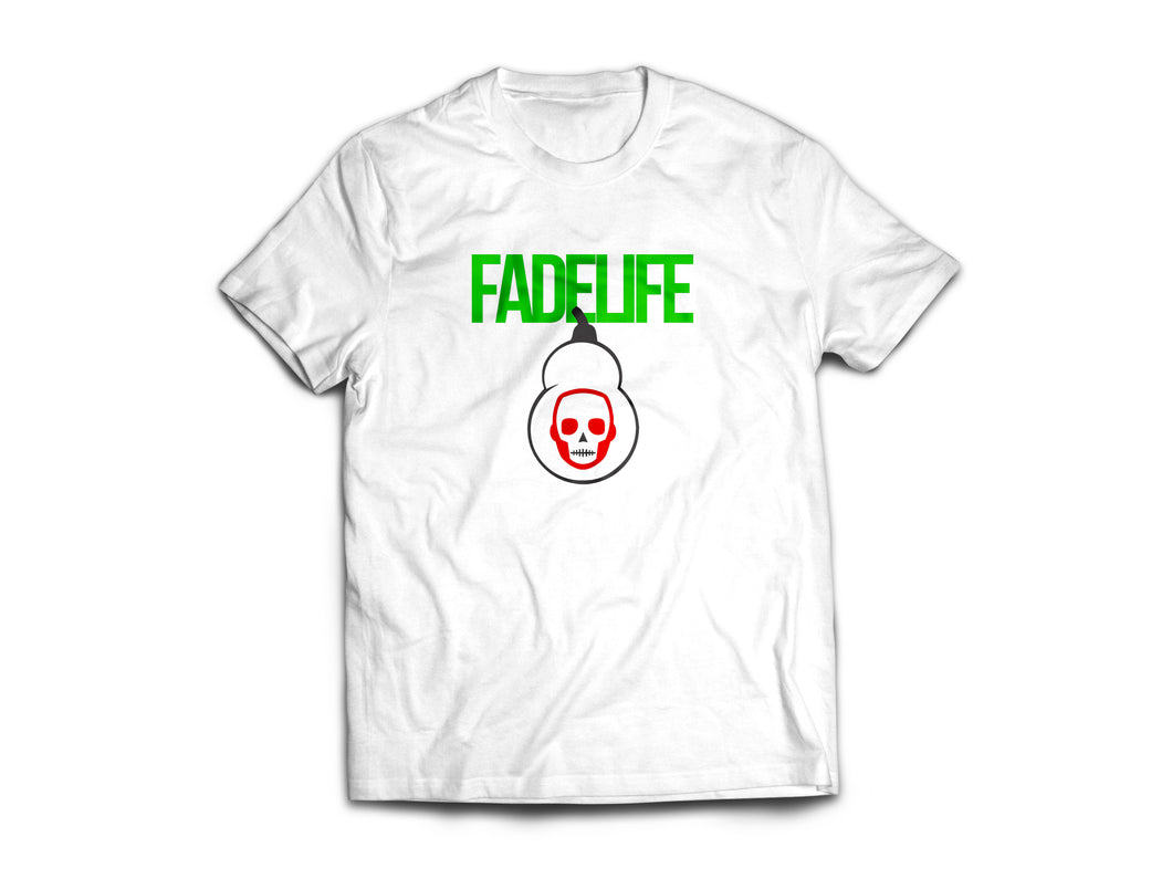 Women Fadelife Logo T-Shirts Green Light