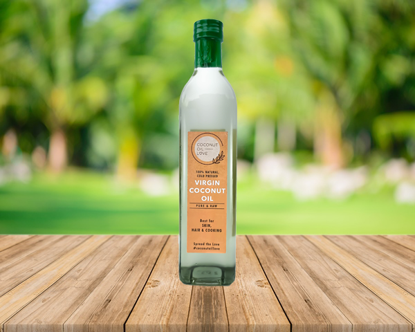 Extra Virgin Coconut Oil, Cold Pressed Pure Coconut Oil, Best for Skin, Face, Hair & Cooking