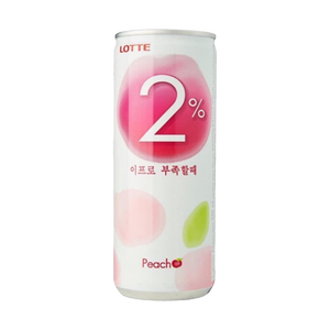LOTTE REFRESHING WATER PEACH FLAVOUR CAN 240 ML