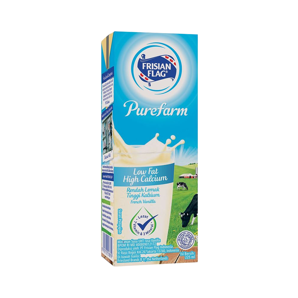 FRISIAN FLAG SUSU UHT FRENCH VANILA 225ML