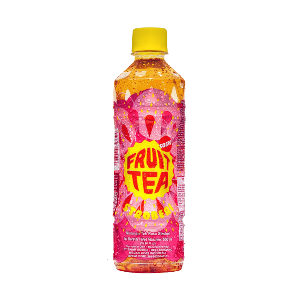 FRUIT TEA STRAWBERRY PET 500 ML