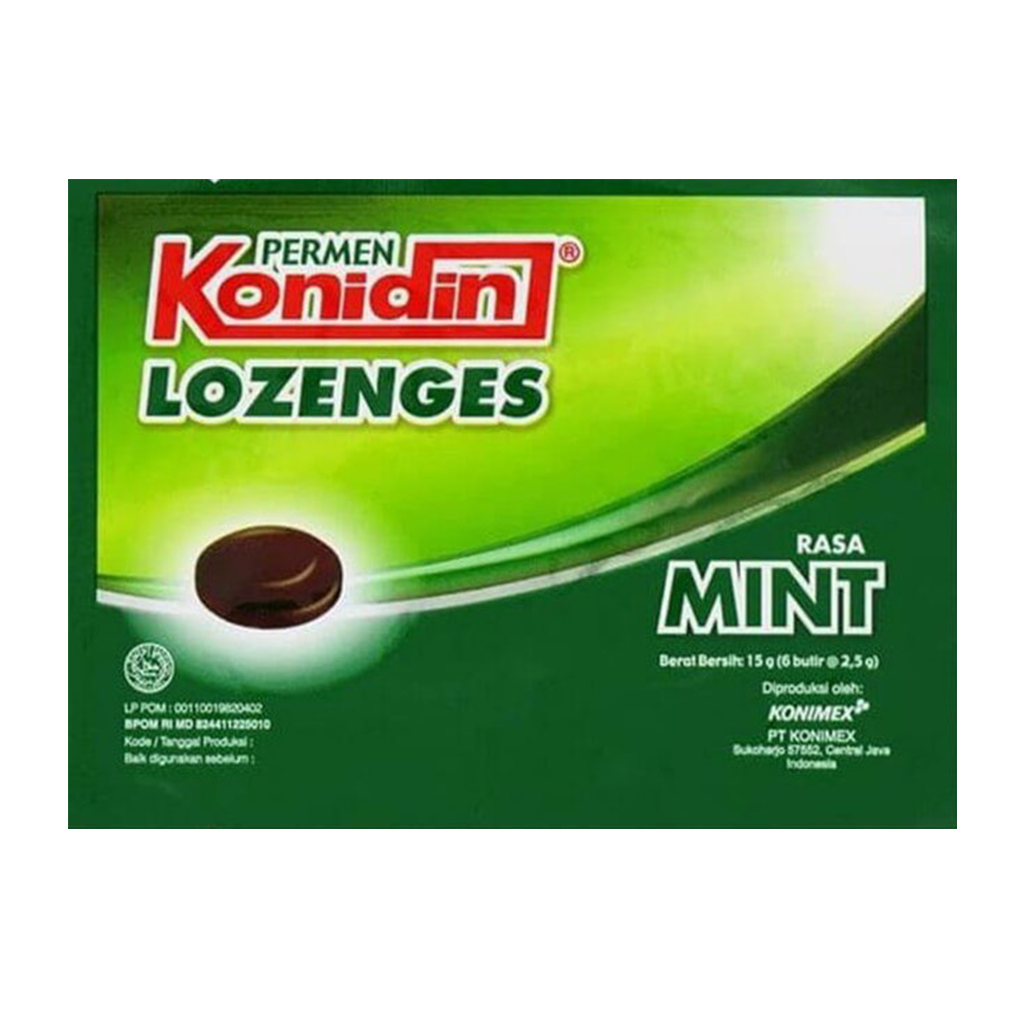 KONIDIN HERBAL MINT LOZENGES 15 GR