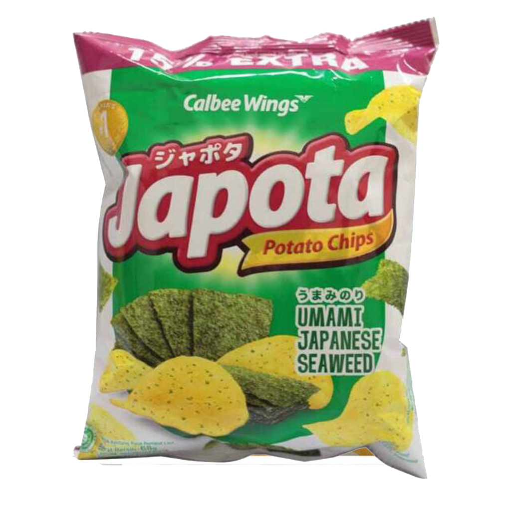 JAPOTA POTATO CHIPS UMAMI JAPANESE SEAWEED 68 GR