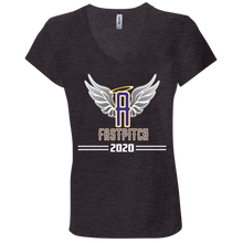 Load image into Gallery viewer, Angels Fastpitch 2020 Ladies' Jersey V-Neck T-Shirt