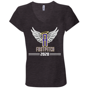 Angels Fastpitch 2020 Ladies' Jersey V-Neck T-Shirt
