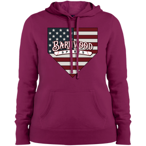 Barnwood Plate Ladies' Pullover Hooded Sweatshirt