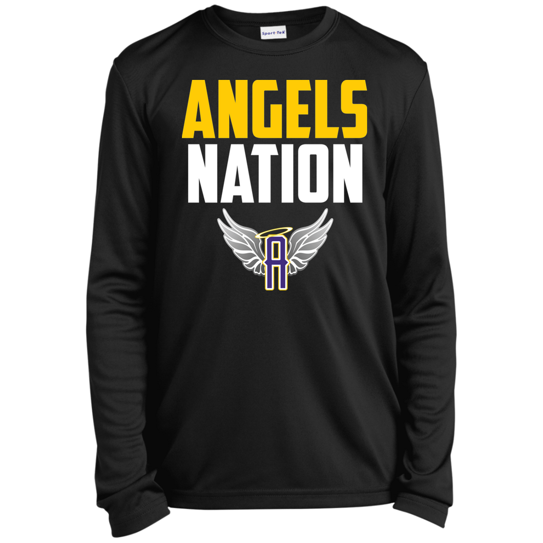 Angels Nation Youth Long Sleeve Moisture-Wicking T-Shirt