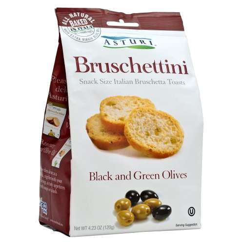 ASTURI Bruschettini Black & Green Olives