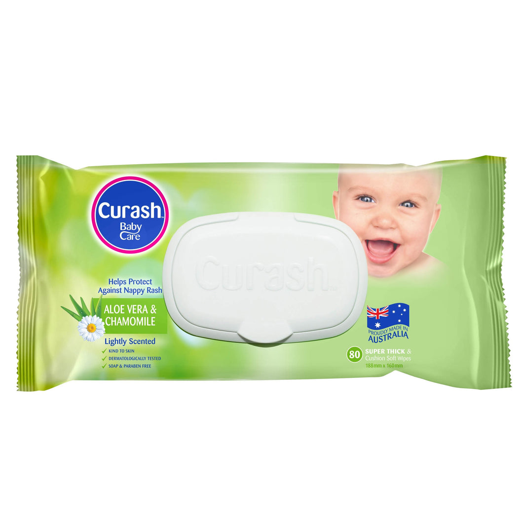 Curash Baby Care Wipes 80 Pack