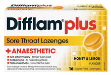 Load image into Gallery viewer, Difflam Plus Throat Lozenges 16 Pack