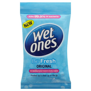 Wet Ones Antibacterial Wipes 15 pack