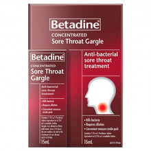 Load image into Gallery viewer, Betadine Ready To Use Sore Throat Gargle 120mL