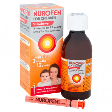Nurofen For Children 3 Months to 5 Years Strawberry 100ml