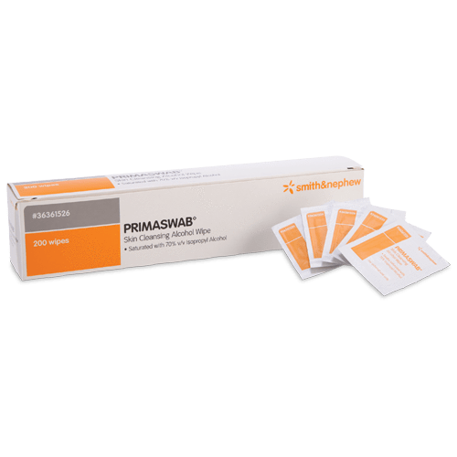 PRIMASWAB Skin Cleansing Alcohol Wipes 200 pack