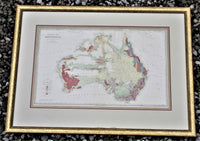 1888 Geological Map Of Australia