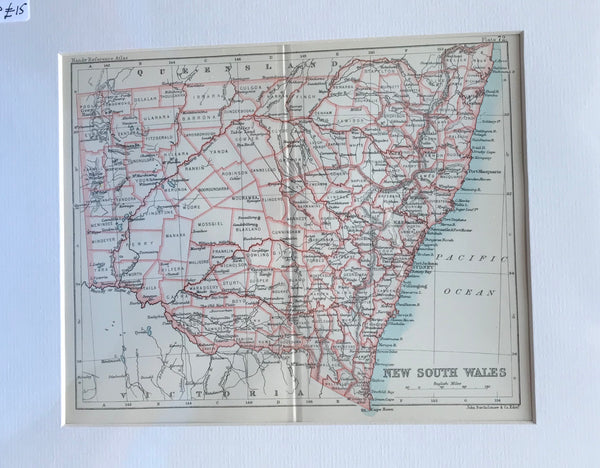 1890 Map of New South Wales