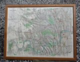 Large Framed Victorian Map Of London By George Washington Bacon