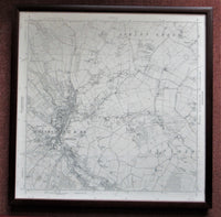 Large framed 1960 Ordnance Survey map of Chesham and Environs