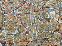 Mounted 1920 Street Plan of Camberwell and New Cross.
