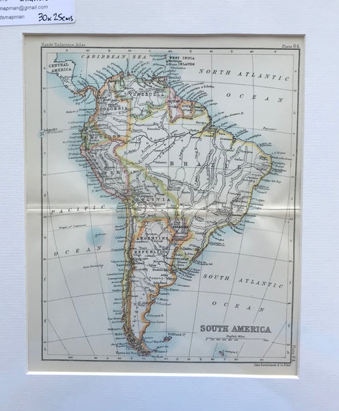 1890 Map of South America