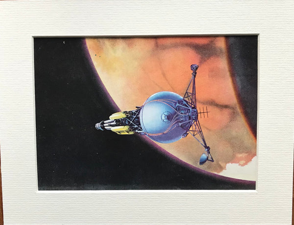 Mounted 1951 Space Art print by RA Smith.