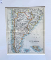 1890 Map of Southern South America
