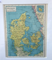 1936 Map of Denmark