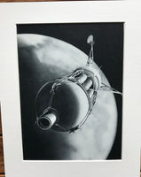 1954 Mounted Orbiting Martian Probe print by RA Smith