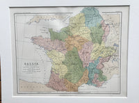 1853 Mounted Map of France by Johnston.