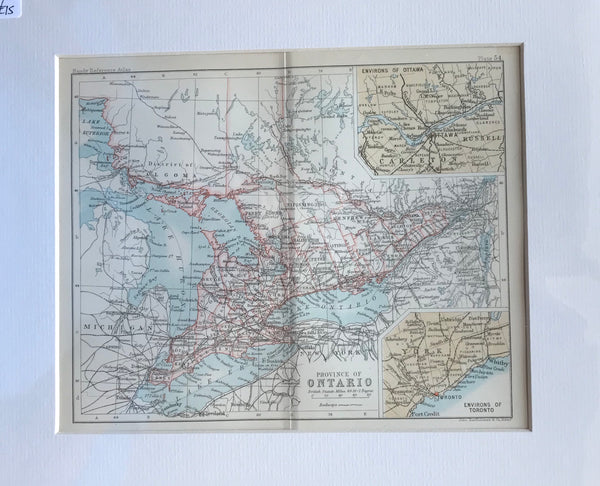 1890 Map of Ontario