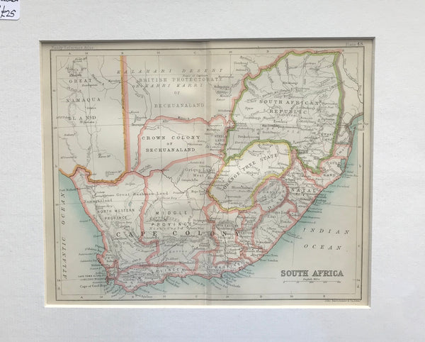1890 Map of South Africa