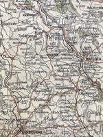 Small Mounted 1920 Map of Matlock and Dovedale.