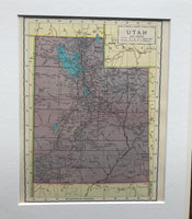 1936 Mounted Map of Utah.