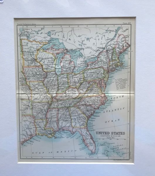1890 Map of United States Eastern Division