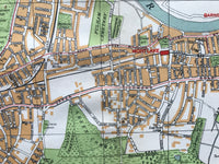 Mounted 1924 Street Plan of Mortlake and Sheen.
