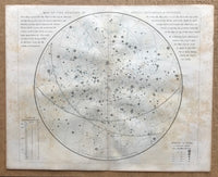 Set of four 1855 Maps of the Heavens by Dower.