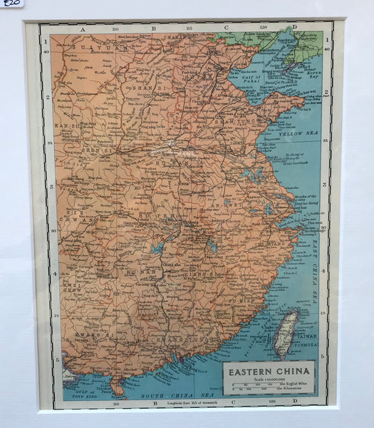 1936 Map of Eastern China