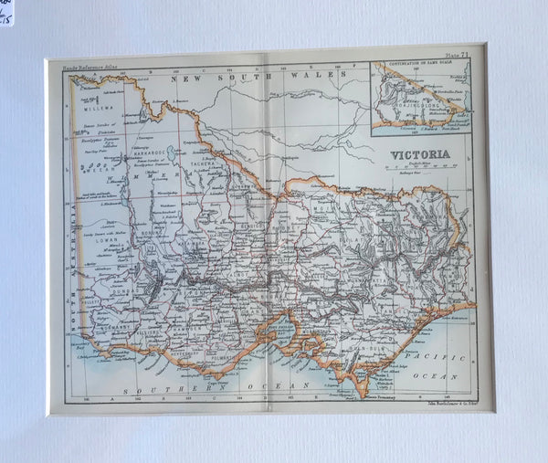 1890 Map of Victoria