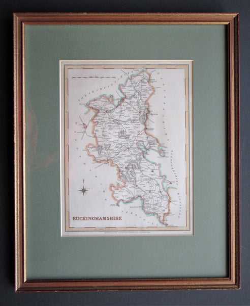 Framed 1840 Map of Buckinghamshire by Creighton.