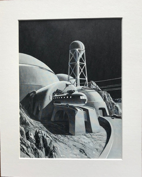 Mounted 1954 Lunar Base by RA Smith