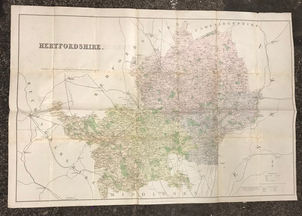 1880 Large Map of Hertfordshire by Kelly's
