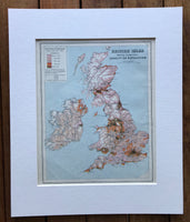 1940 Mounted Map of British Isles.