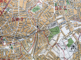 Mounted 1913 Street Plan of Brixton and East Dulwich.